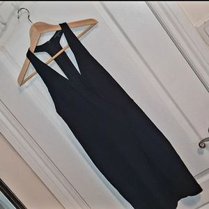 DYNAMITE halter foldover dress